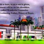 """Parliament house Singapore, Isaiah 9:6"" by sghomedeco"