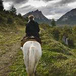 """Horseback Ride - Beagle Channel"" by mjphoto-graphics"