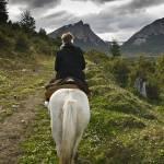 """Horseback Ride - Beagle Channel"" by mjphoto-graphics"