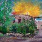 """08072012 Chener River Cabin Indian"" by garlandoldham"