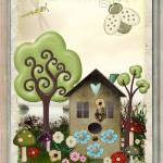 """Bonnie Memories Vintage Whimsical Mixed Media"" by ReneeLozenGraphics"