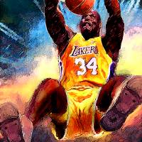 """Shaq, Shaquille Oneal, Los Angeles Lakers Art"" by artofvela"