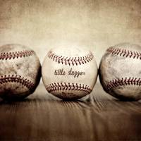 """Vintage Baseballs Little Slugger"" by shawnstpeter"