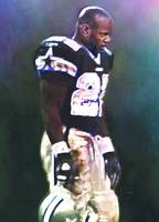 Emmitt Smith, Dallas Cowboys, NFL Art