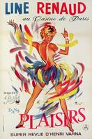 Poster advertising the show 'Plaisirs' starring Li
