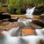 """Upstate SC Waterfall Landscape Blue Ridge Mountain"" by DAPhoto"