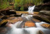 Upstate SC Waterfall Landscape Blue Ridge Mountain