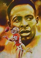 Jerry Rice, San Francisco 49ers, NFL Art