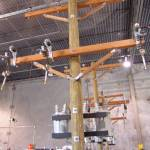 """Warehouse Demo 3-phase cutout arrester pole"" by TheElectricOrphanage"