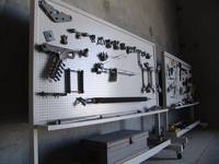 Warehouse Pegboard Display of Line Materials