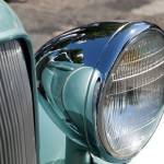 """reflections in headlamp of 33 plymouth"" by janesclassiccarphotos"