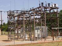 OG&E69-kV4-Sub Unit with H-Frame in background