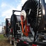 """Westar Energy Transmission Project: Stringing Reel"" by TheElectricOrphanage"