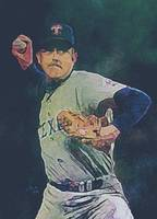 Nolan Ryan, Texas Rangers, MLB Art by E. L. Vela
