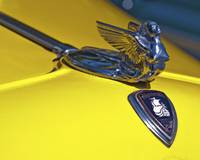 1933 Yellow Plymouth Rod Mascot