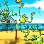 """""""Olympic Volleyball Frog"""" by Zooco"""