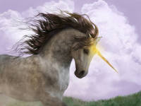 Unicorn with Magic Horn