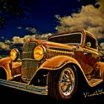 """32 Ford Three Window Coupe and the Golden Hour"" by chassinklier"