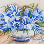 """Blue Flowers"" by maja_radocaj"