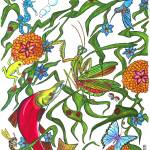 """Rainbw Mantis (org. 16""x19"")"" by KenRileyArt"