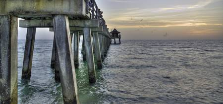 Naples Pier at Sunset 3 HDR