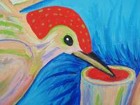 Triune Heart, detail - woodpecker