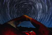 Mobius Arch Polaris Star Trails