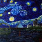 """Dedication to Van Gogh:Memphis Starry Night"" by jacklepper"