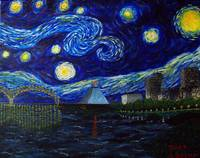 Dedication to Van Gogh:Memphis Starry Night