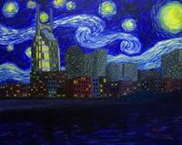 Dedication to Van Gogh: Nashville Starry Night