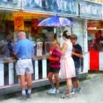 """Buying Ice Cream at the Fair"" by susansartgallery"