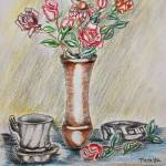 """still life flowers and roses"" by thuraya"