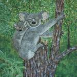 """Koalas in a Tree Painting"" by catnip009"