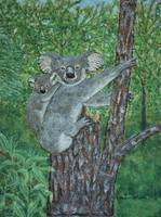 Koalas in a Tree Painting