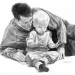"""Father and Son"" by davemyersartisservant"