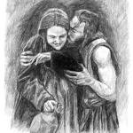 """Jesus and Mary"" by davemyersartisservant"