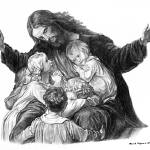 """Jesus and the Children"" by davemyersartisservant"