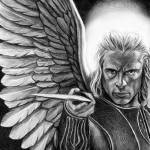 """Saint Michael the Archangel 2"" by davemyersartisservant"