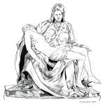 """PIETA (after Michelangelo)"" by davemyersartisservant"