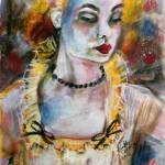"""Chantalle and her Sheer Blouse by Ginette"" by GinetteCallaway"