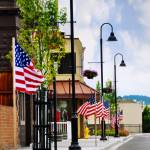"""Red, White and Blue Town"" by CaptureLife"