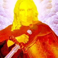 Saint Michael the Archangel Art Prints & Posters by Valerie Anne Kelly
