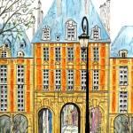 """""""Paris Place Des Vosges"""" by FradetFineArt"""