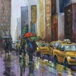 """Rainy NYC"" by wulff-arts"