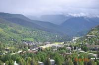Looking down over Vail Valley, Summer 2011