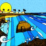 """sunrise cliffs"" by chicachick"