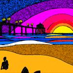 """""""sunset surf"""" by chicachick"""