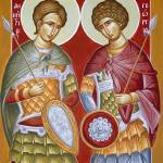 """Sts Dimitrios and George"" by ikonographics"