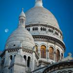"""Sacre-Coeur and Moon"" by Inge-Johnsson"