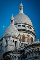 Sacre-Coeur and Moon